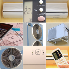 Collage of heating and air